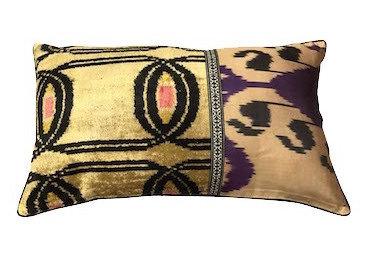 Cushion Ikat One Side 40x60cm