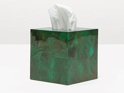 Tissue Box Emerald Shell