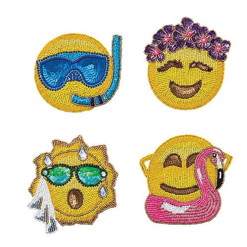 Coasters Emoji Summer Set 4