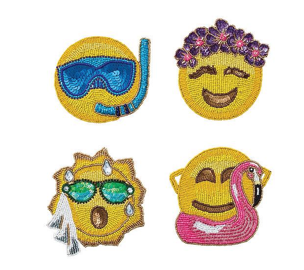 Coasters Emoji Summer Set 4