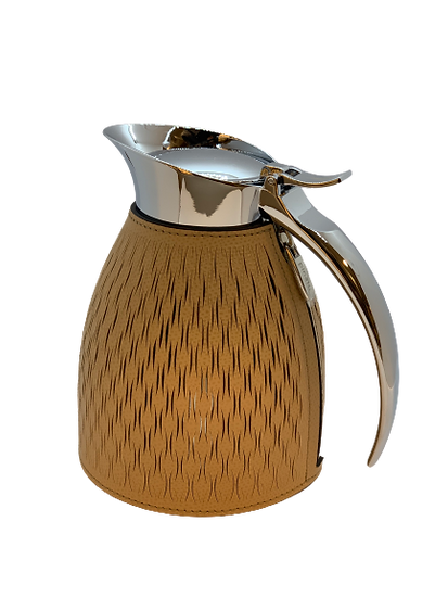 Carafe thermal  in leather Handmade, Nocciola