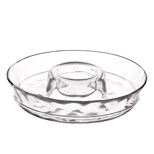 Chips and dips clear glass