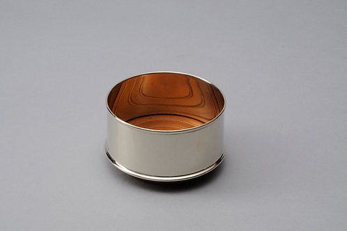 Wine Coaster smooth silver plated
