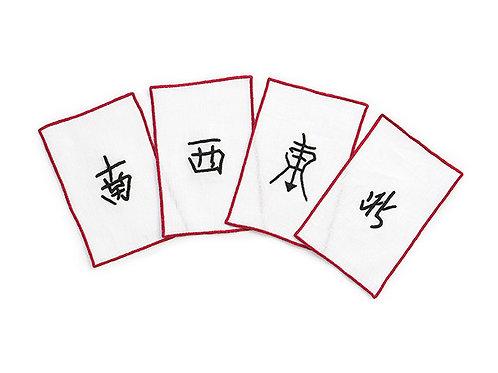 Cocktail Napkins Mahjong ((set of 8 pieces)