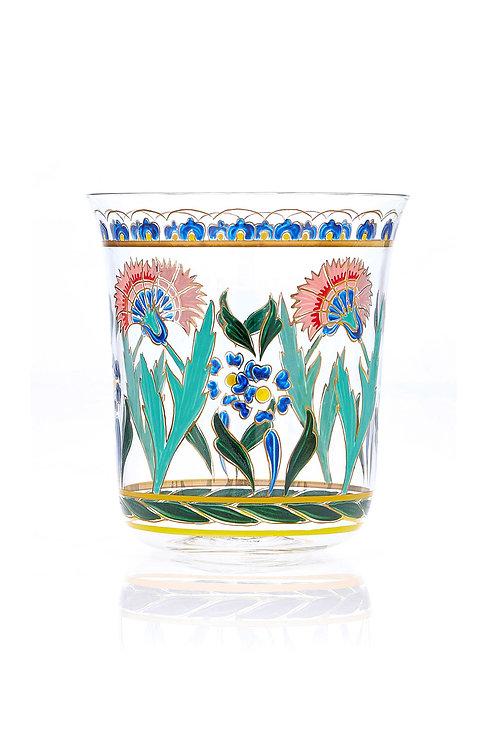 Tumbler Persian flowers Handpainted B