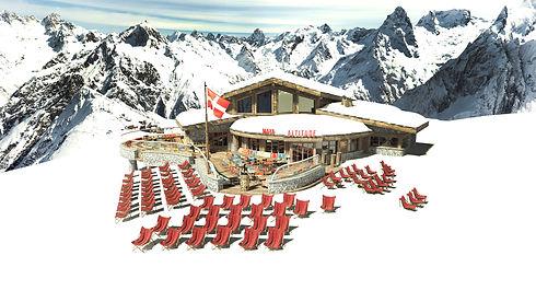 MAYA ALTITUDE Mountain Restaurant in Meribel