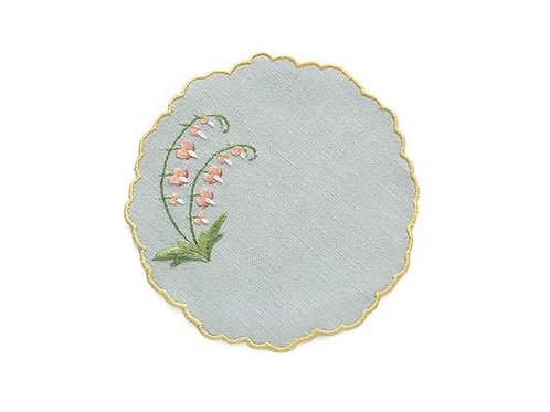 Cocktail Napkins Hand embroidered set of 8