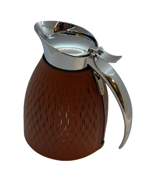 Carafe thermal in leather Handmade, Canyon