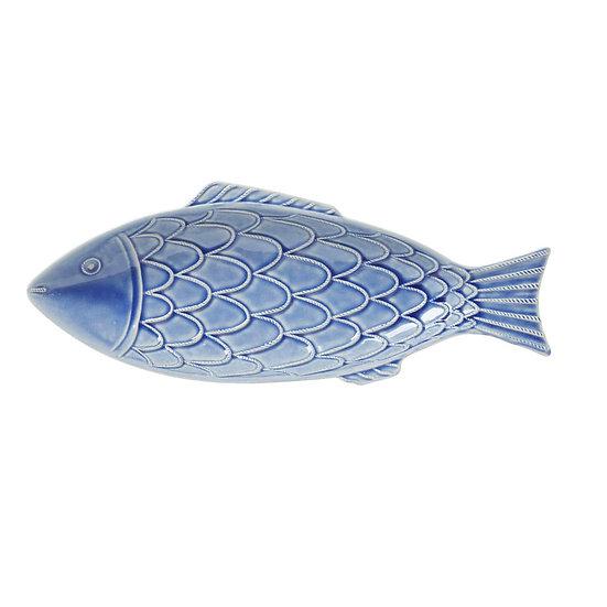 Platter fish in blue ceramic