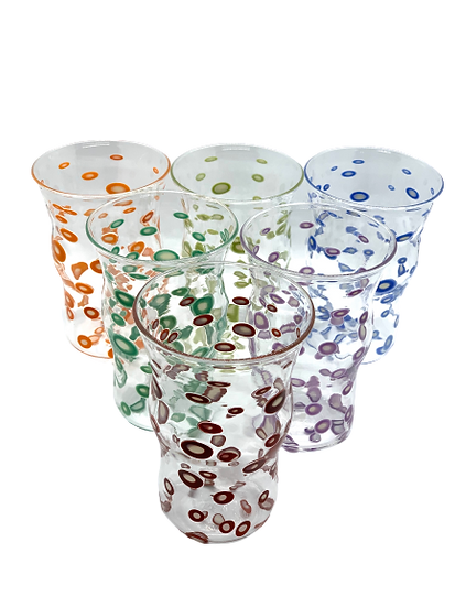 Soda glass handblown (set of 6)