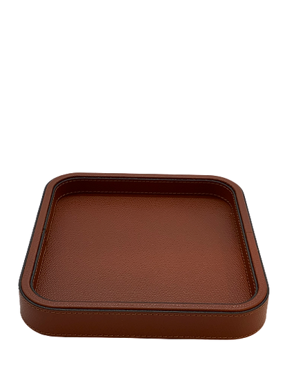 Tray in leather Handmade, Canyon