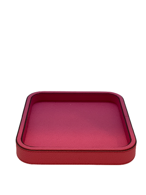 Tray in leather Handmade, Bouganville
