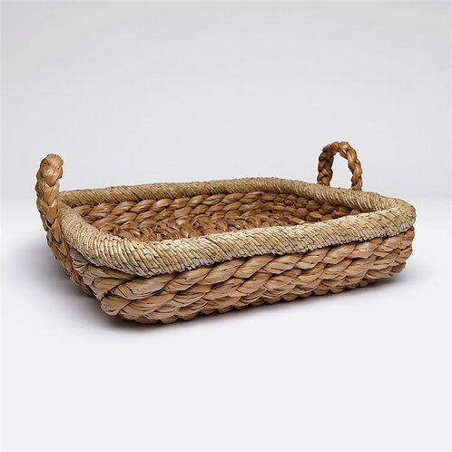 Basket handwoven in  seagrass