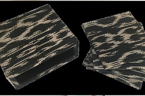 Black  Coasters ( set of 6 pieces )