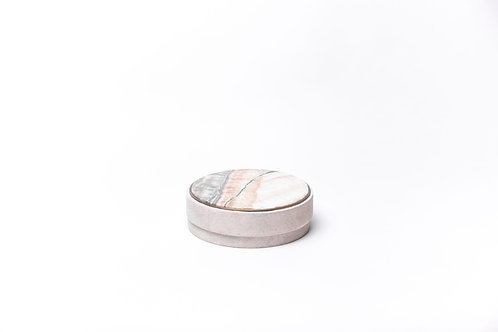Box in natural shagreen & onyx