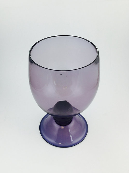 Footed Hurricane handblown glass, purple  ( set of 2 pcs )