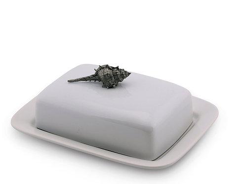 Butter dish stoneware Shell