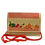 Thumbnail: Bag Straw  handembroidered Red