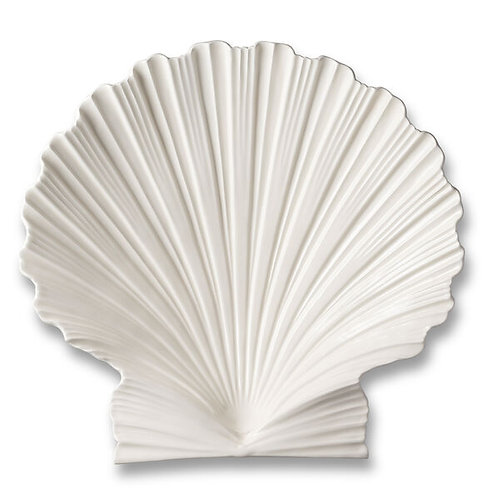 Platter shell large in ceramic