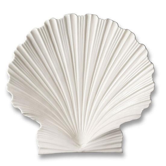 Platter shell large in ceramic