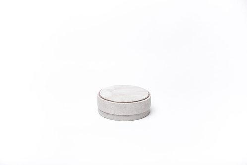 Box in natural shagreen & smokey white quartz