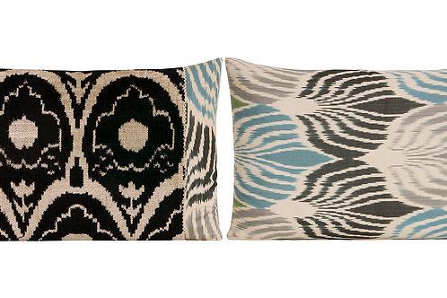 Cushion Vlvt Ikat Black 50x40cm