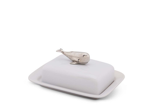 Butter dish stoneware - whale