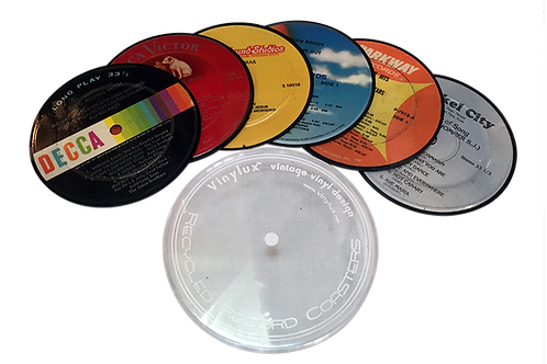 Record Label Coasters (Set of 6 pieces)