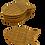 Thumbnail: Coaster in natural wicker fish (12pcs)