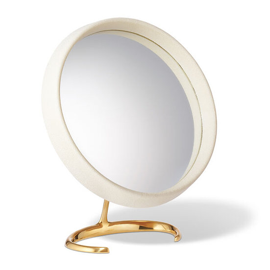 Vanity Mirror cream shagreen
