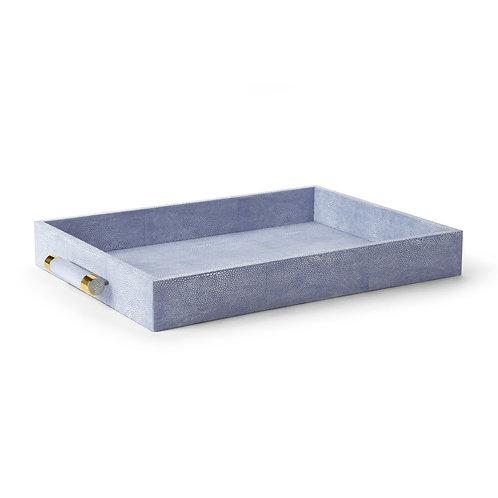 Tray Rectangular Blue Shagreen