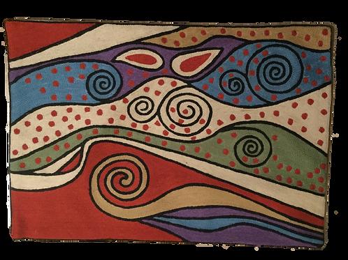 Pillow Cover in Wool Lumbar Rectangle 33x54cm