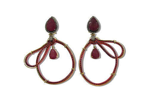 Silvia Furmanovich Ruby Earrings