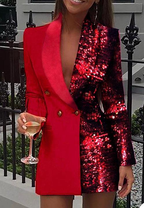 Saint Sequin Blazer Dress