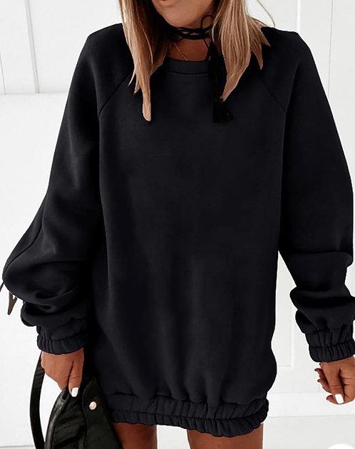 Gigi Ruched Sweatshirt Dress
