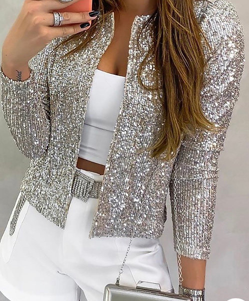 Majesty Sequin Coat