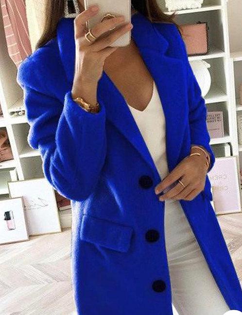 Bliss Blü Button Coat