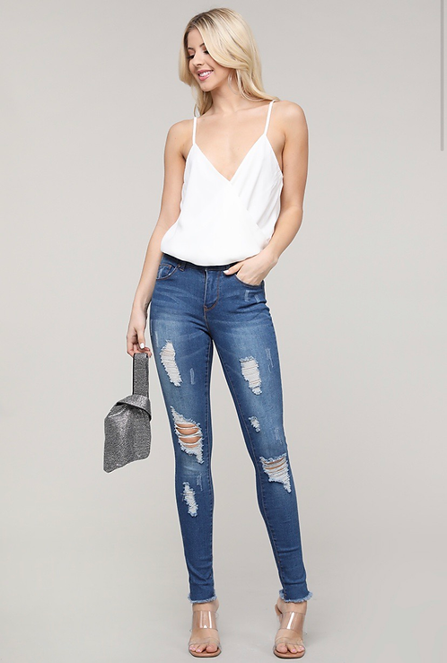 DEAN DISTRESSED DENIM JEANS