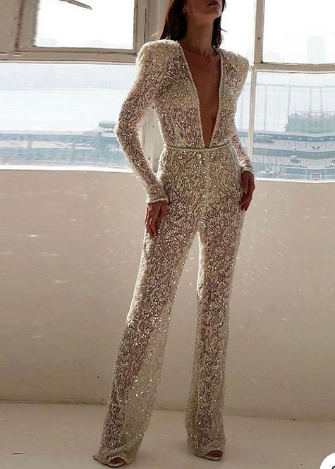 Celinè Sequin Jumpsuit