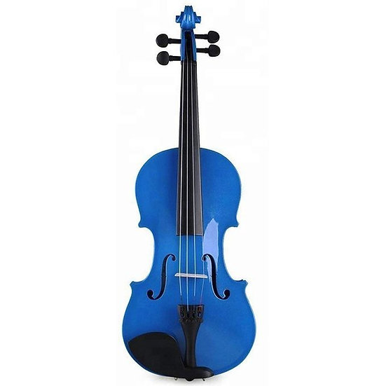 Violon + Archet + Colophane + Housse - Bleu