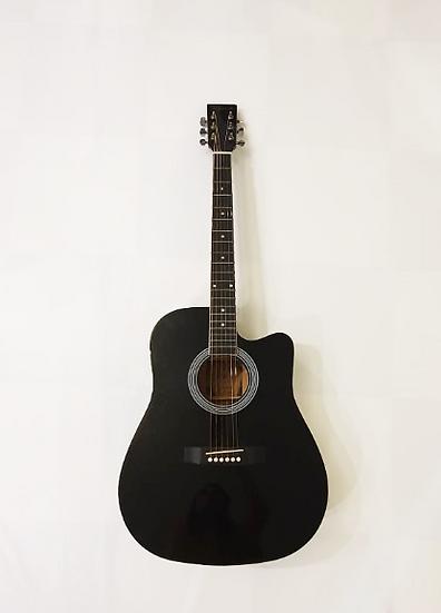 Guitare acoustique noire 41″ Skylark