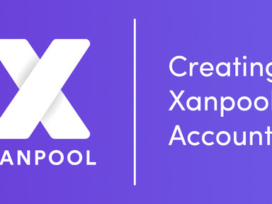 Creating A Xanpool Account is as easy as 1-2-3!