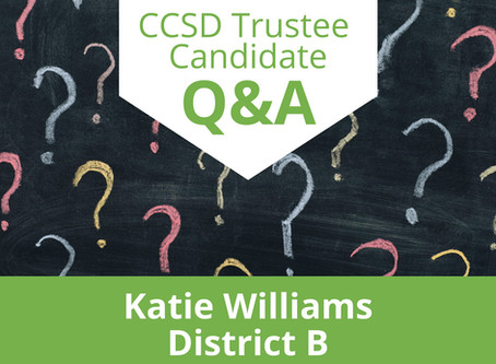 Katie attends virtual CCSD Parents Candidate Forum