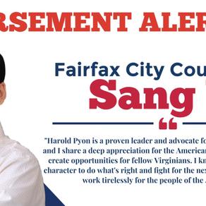 Pyon Announces Endorsement of Councilman Sang Yi