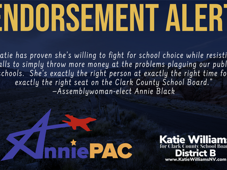 AnniePAC Endorses Katie Williams for Clark County School Board
