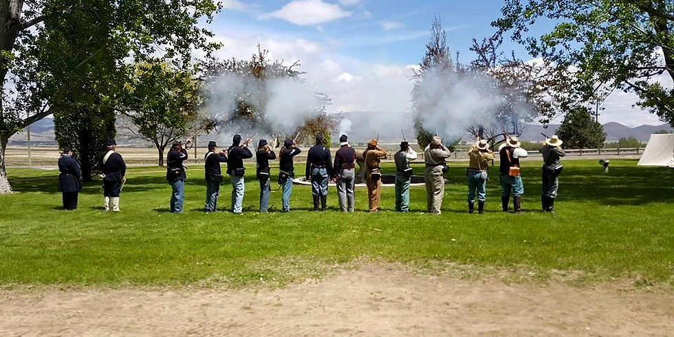 Nevada Civil War Volunteers at Bower's Mansion