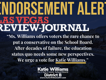 REVIEW-JOURNAL ENDORSEMENT: CCSD Trustee, District B