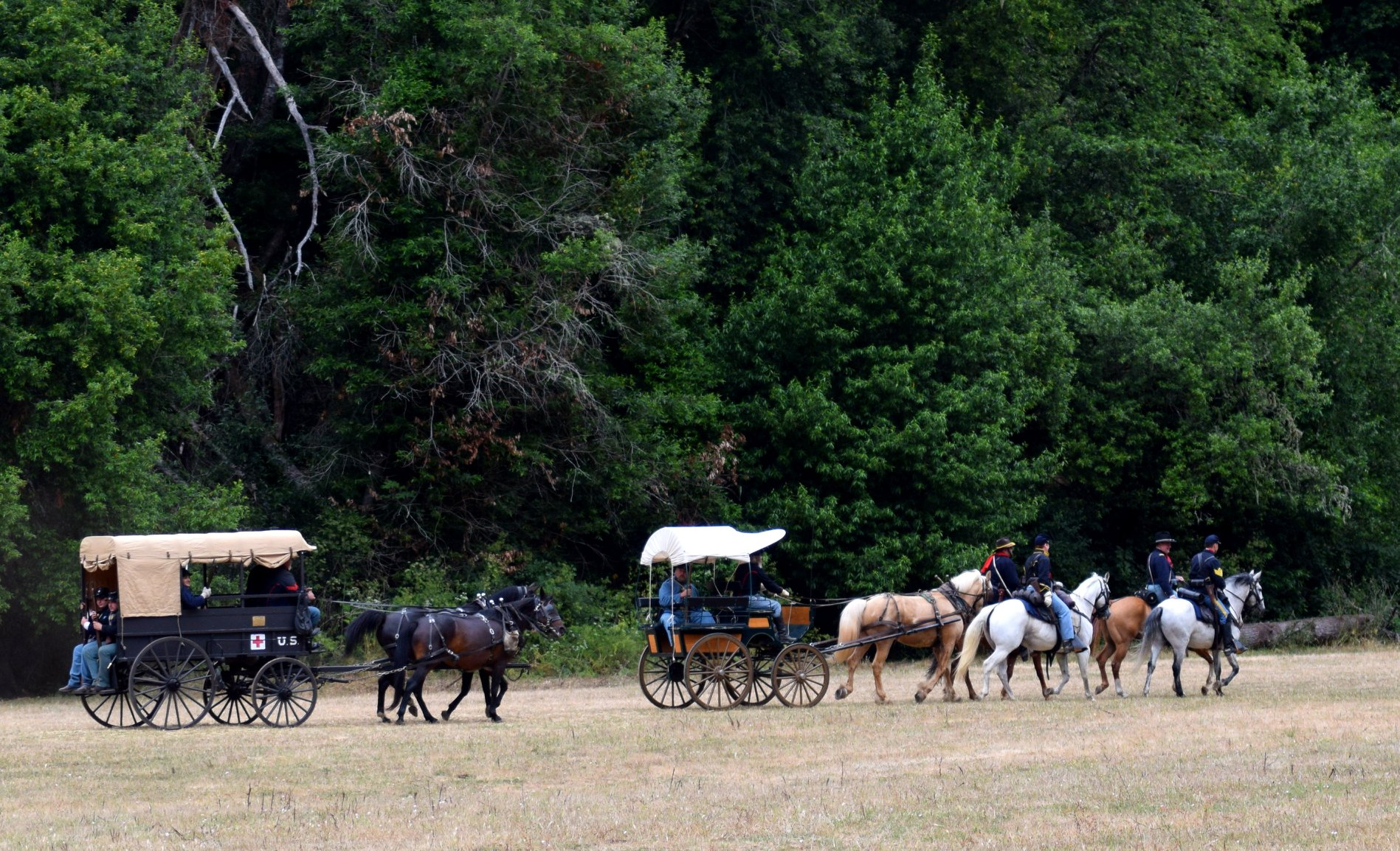 Wagon Escort at Duncan's Mills