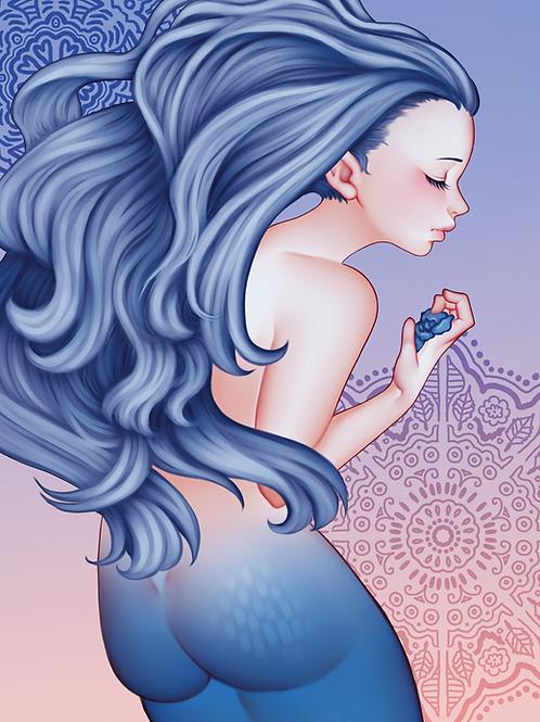 "Art Print: ""Blue Rose"""