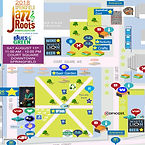 A music festival map by MainStreetGIS for the Jazz and Roots Music Festival in Springfield, Massachusetts
